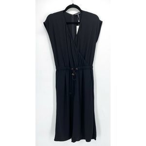 Eileen Fisher  Black Cropped Jumpsuit NWT
